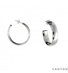 Créoles rondes et dodues-CANYON en argent 925/1000-E-Shop bijoux-totem.fr