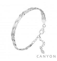 Bracelet tresse de rubans-CANYON. E-Shop bijoux-totem.fr