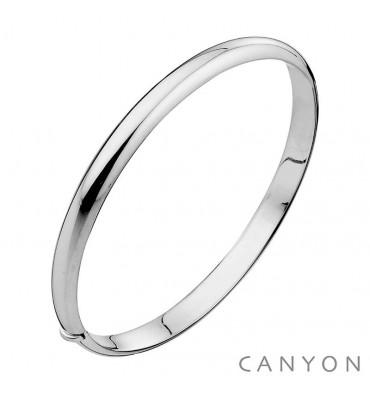 Bracelet jonc ouvrant-CANYON en argent 925/1000-E-Shop bijoux-totem.fr