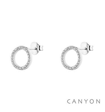 Boucles d oreilles tiges en forme de cercle-CANYON. E-Shop bijoux CANYON 432da99a60a