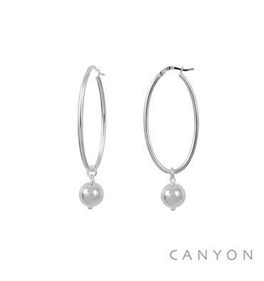 Créoles ovales-CANYON en argent 925/1000. E-Shop bijoux-totem.fr