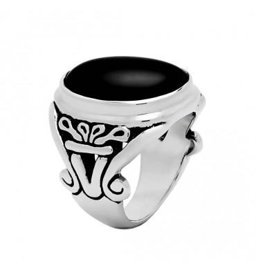 Bague nacre grise-JALAN JALAN. E-Shop bijoux-totem.fr