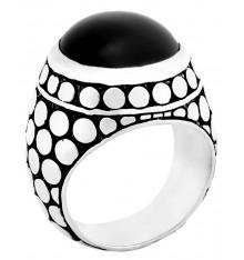 Bague onyx noir-JALAN JALAN. E-Shop bijoux-totem.fr