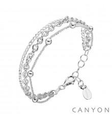 Bracelet 3 rangs CANYON en argent 925/1000-E-Shop bijoux-totem.fr