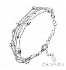 Bracelet petites billes et olives-multirangs-CANYON en argent 925/1000-E-Shop bijoux-totem.fr