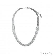 Collier multi chaines-CANYON en argent 925/1000-E-Shop bijoux-totem.fr