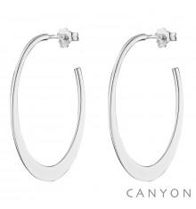 CANYON-Argent 925-créoles-bijoux totem.