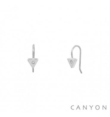 CANYON-Argent 925-dormeuses-bijoux totem.
