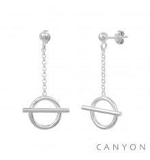 CANYON-Argent 925-boucles d'oreilles-bijoux totem.