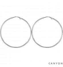 CANYON-Argent 925-boucles d'oreilles-créoles-bijoux totem.