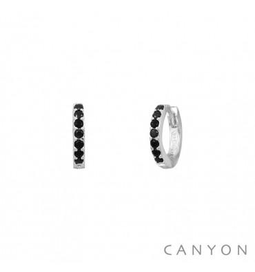 Boucles d oreilles créoles CANYON-Argent 925-bijoux totem. 10431e70b4b