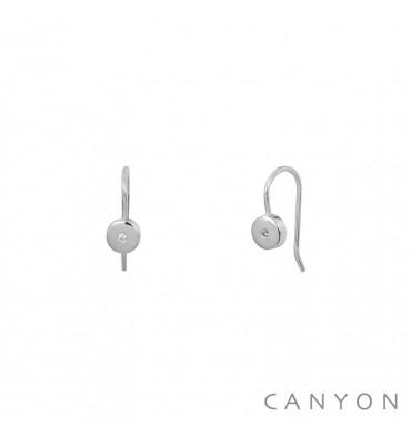 CANYON-Argent 925-boucles d'oreilles-dormeuses-bijoux totem.