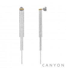 canyon-boucles d'oreilles-argent 925-bijoux totem.