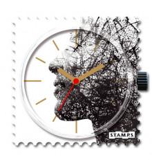 Stamps-human vision-cadran-montre-water resistant-bijoux totem.