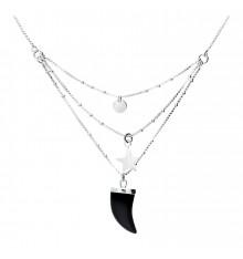DORIANE-Argent 925-collier-3 rangs-bijoux totem.