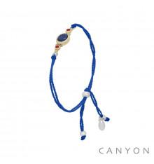 canyon-bracelet-argent 925-lapis lazuli-cordon-bijoux totem.