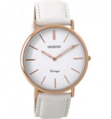 oozoo-montre-femme-bracelet cuir blanc-bijoux totem.fr