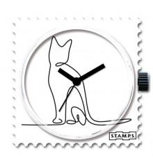 Stamps-lovely cat-cadran-montre-bijoux-totem.fr